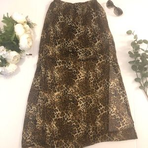 Hot Gal Leopard Print Mesh Skirt size Small